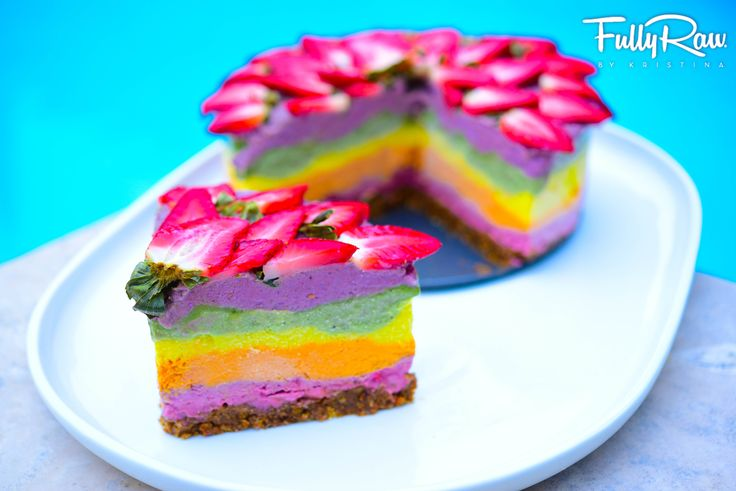 Fully Raw Rainbow Cake Delicious Amp Healthy Recipes