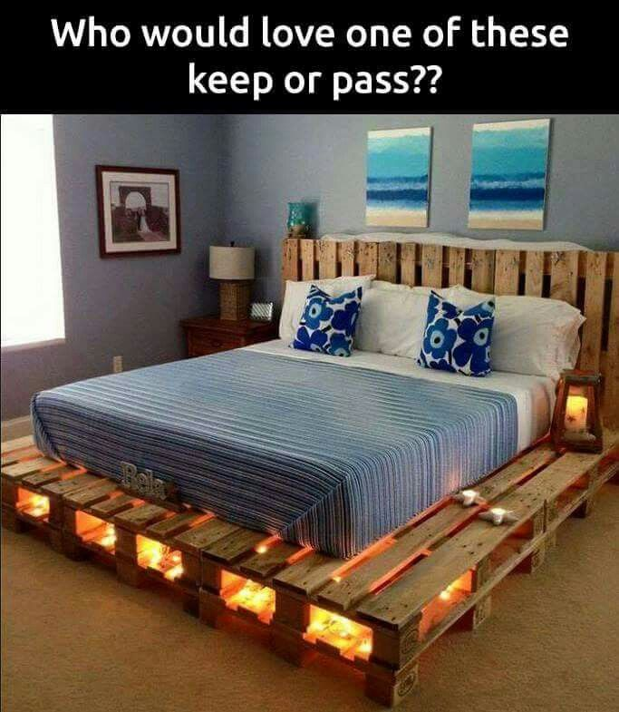 Homemade bed frame
