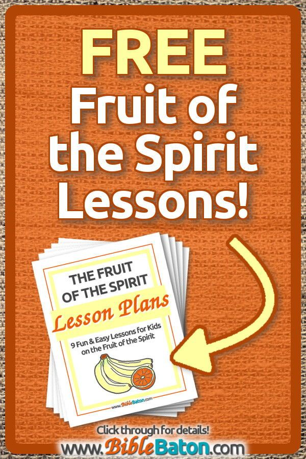 photo regarding Free Printable Children's Church Curriculum identified as Totally free Fruit of the Spirit Lesson Designs for Youngsters BibleBaton