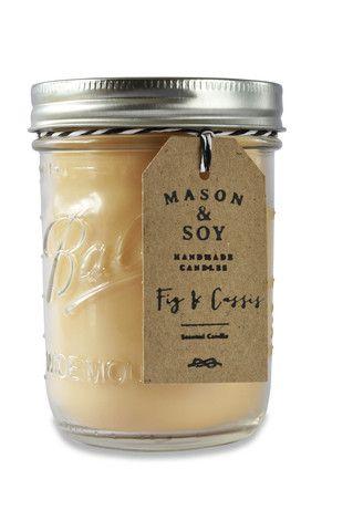 Blue Heritage Mason Jar (437 mls) Scented Soy Candle – Mason & Soy Handmade Candles