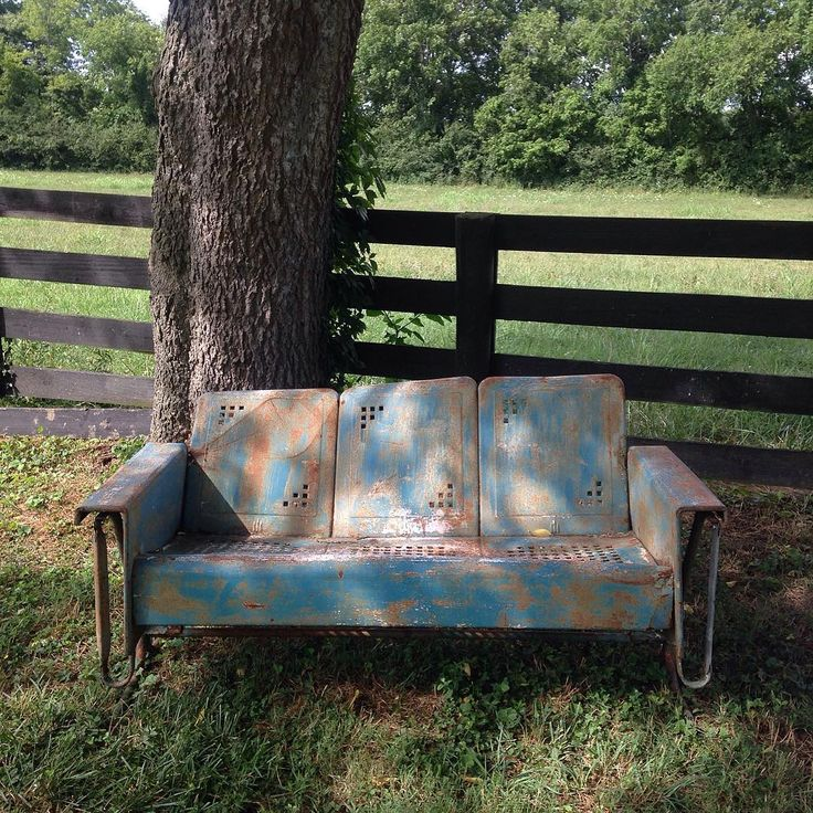 500 Best Images About Rusty Metal Outdoor Furniture On