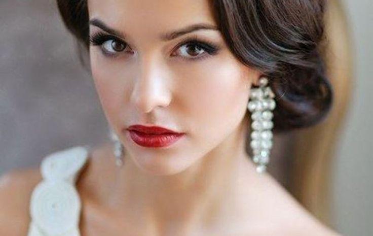 Image result for макияж на свадьбу для брюнеток фото яркий