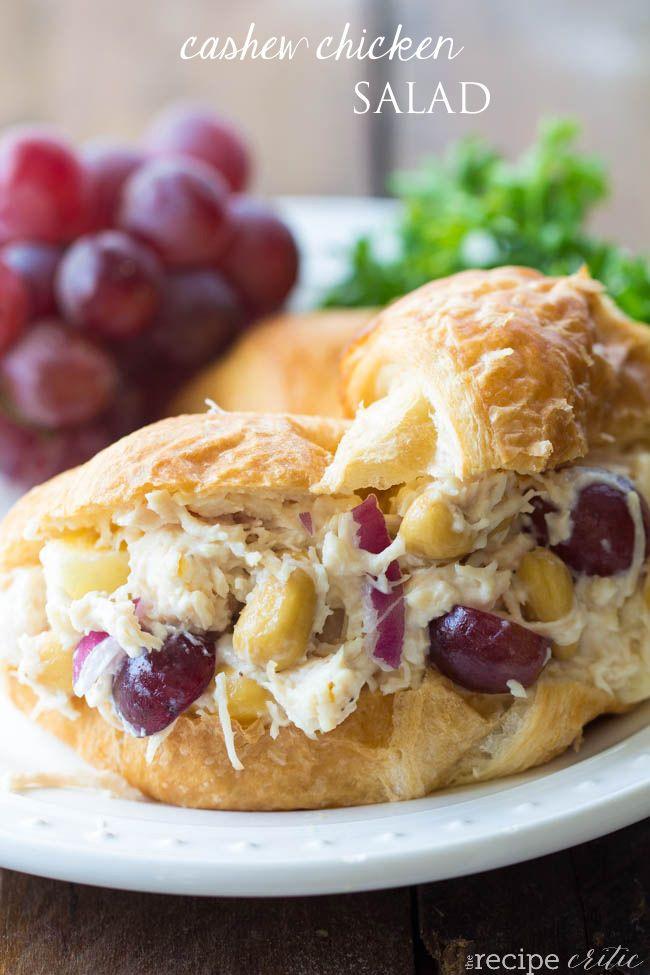 Cashew Chicken Salad @FoodBlogs