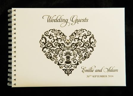 guest book personalised wedding guests ideas themes heart