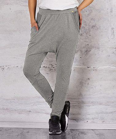 Love this Gray Harem Pants - Women on #zulily! #zulilyfinds
