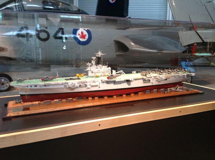 Model of HMCS Bonaventure at the Aviation Museum in Ottawa.