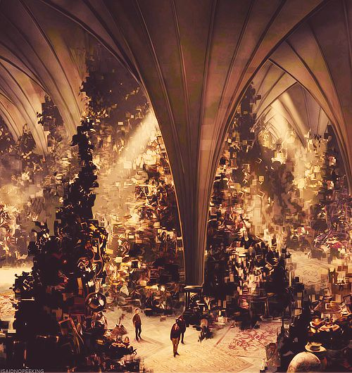 Harry Potter and the Deathly Hallows Part II:Room of RequirementConcept Art