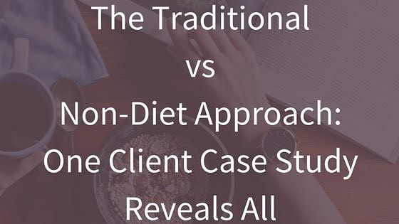 New on the blog. 'The Traditional vs Non-Diet Approach: One Client Case Study Reveals All'  I was asked to present a case study on how the non-diet approach can help clients at a local medical centre.  I went one step further to show the general practitioners how the traditional weight-centered paradigm and the non-diet approach have impacted the same client.  Read the post at http://wp.me/p6LHEX-Xq