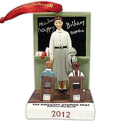 Norman Rockwell 2012 Teacher Ornament!Rockwell 2012, Norman Rockwell, Teachers Ornaments, Merry Christmas, 2012 Teachers