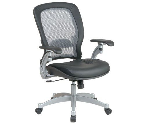 Light Air Grid Chair with Leather Seat and Platinum Accents MPN: 3680A