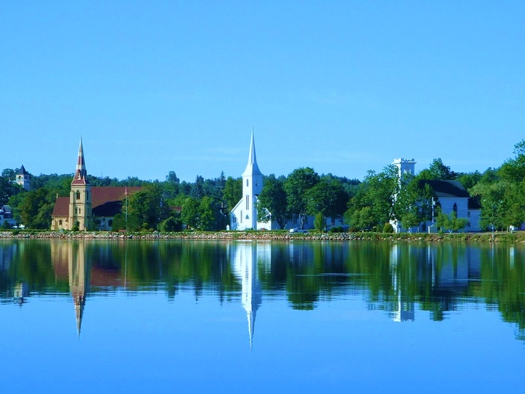 three churches, mahone bay n.s.