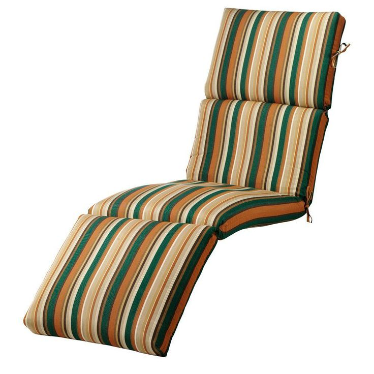 Home Decorators Collection Rustic Stripe Large Outdoor Chaise Lounge Cushion