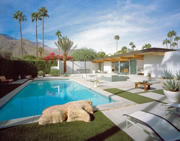 Wexler and Harrison's Leff Residence (1957). Photograph by Julius Shulman and Juergen Nogai, 2005 ©Juergen Nogai; courtesy Palm Springs Art Museum.  http://www.palmspringslife.com/Palm-Springs-Life/February-2011/The-Quiet-Elegance-of-Donald-Wexler/