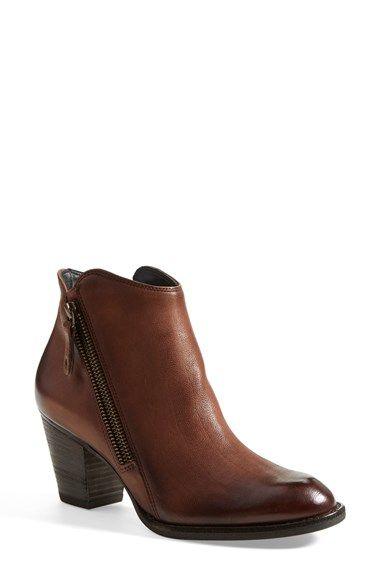 Free shipping and returns on Paul Green 'Aubrey' Bootie (Women) at Nordstrom.com. Burnished, semigloss highlights show off the rich leather of Paul Green's Western-influenced, stacked-heel bootie, made modern with angled side zips.