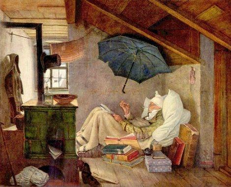 Carl Spitzweg, Der arme Poet, 1839