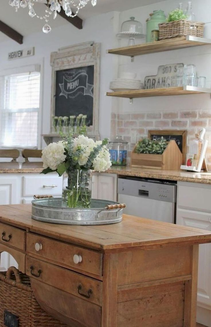 Corner Cabinetry Click The Picture For Many Kitchen Ideas Kitchencabinets Kitcheno Kitchen Island Decor Rustic Farmhouse Kitchen Vintage Farmhouse Kitchen