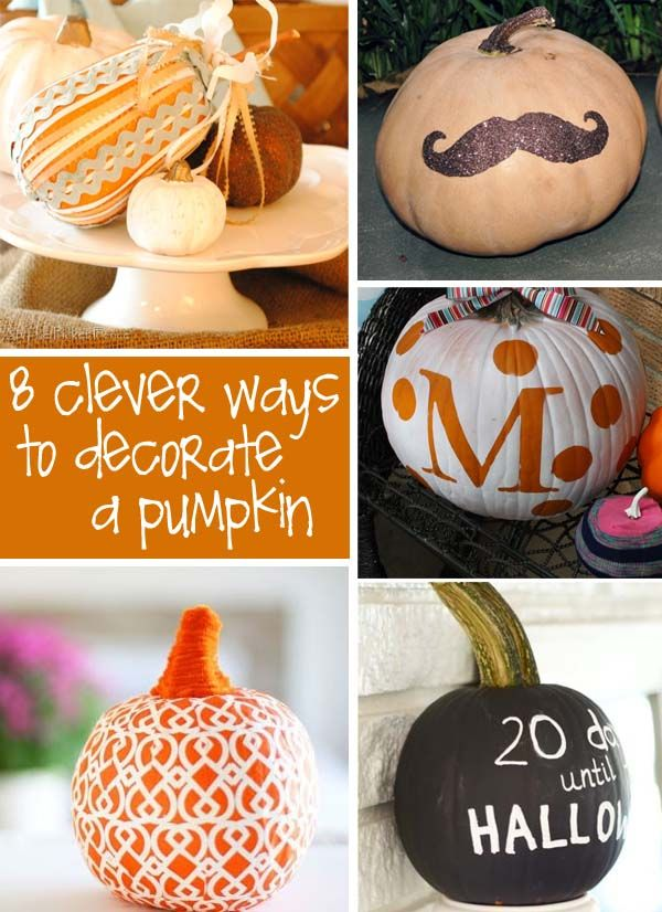 Unique Pumpkin Decorating Ideas Halloween Pinterest