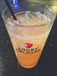 Angry Cuban 1 1/2 oz of Clear Rum 2 1/2 oz Pineapple Juice Big Splash of Grenadine Fill with Angry Orchard Hard Cider Beer