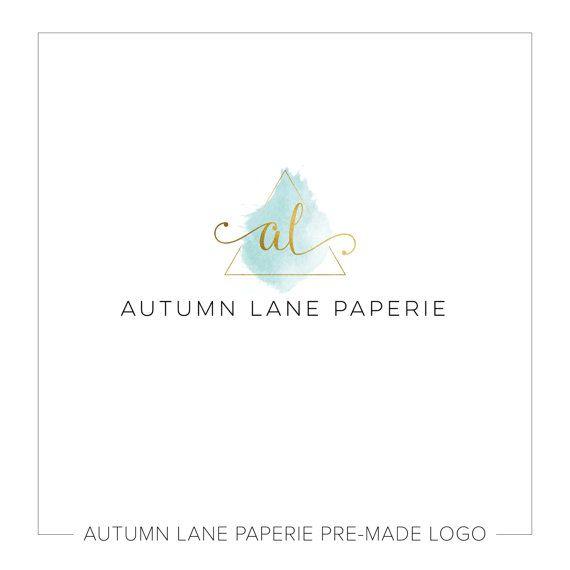 Premade Logo Design, Simple Logo, Geometric Logo, Watermark Logo, Modern Logo, Triangle Logo, Minimalist Logo, Initials Logo, Gold Foil Logo