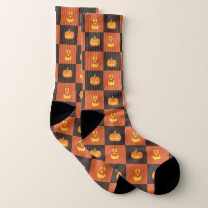 Halloween Jack-O-Lantern Pumpkin Big Smile Face Socks - Halloween happyhalloween festival party holiday