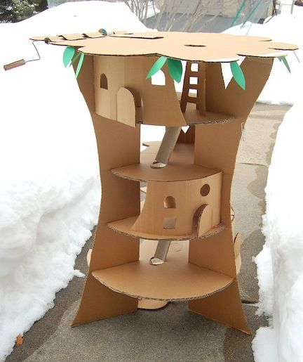 10 Cardboard Projects That Kids Will Love | Babble. I have so much cardboard right now and some of these crafts are very cute.