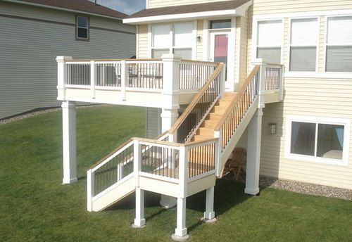 29 best hnh deck railings images on pinterest deck for Second story balcony