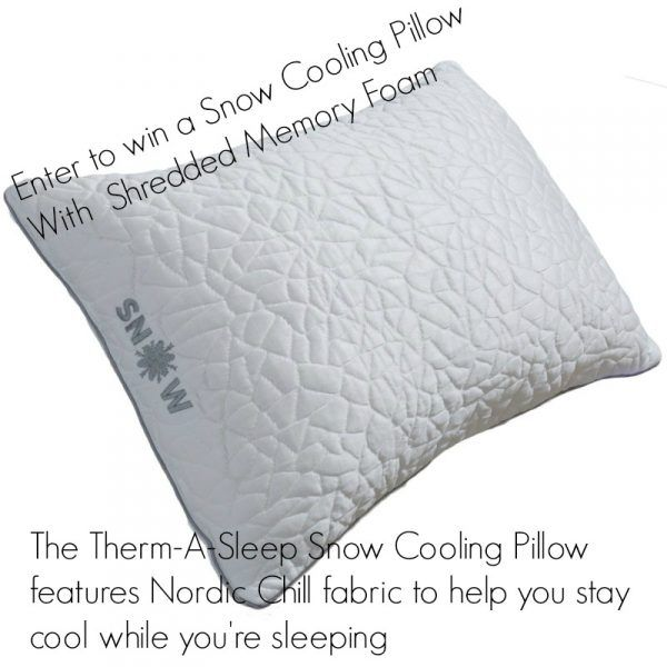 Looking for a Good Night's Sleep? #Win a Snow Cooling #Pillow With  Shredded MemoryFoam Fill ARV $90 @born2impress & @REM_Fit #giveaway