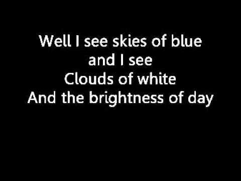 Israel Kamakawiwo'ole - Somewhere Over the Rainbow (with lyrics) - YouTube