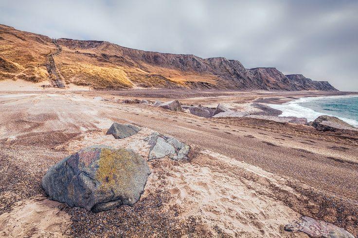 Die Steilküste bei Bovbjerg (Dänemark), Bovbjerg, Dänemark, Küste, Nordsee, Steilküste, Treppe