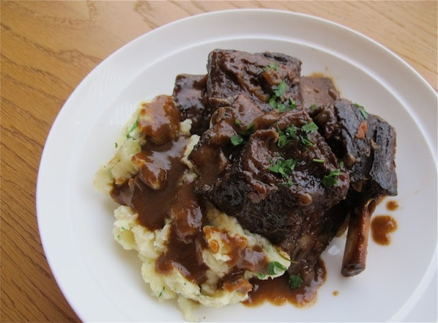 red wine-braised short ribs | Foods I want to try | Pinterest