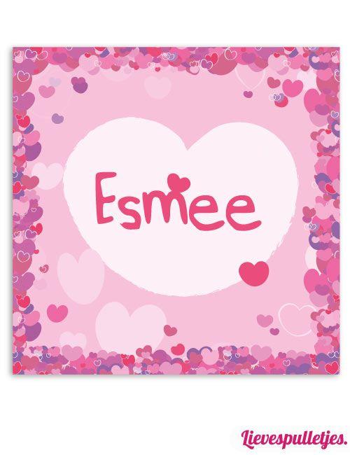 Een lieve muurdecoratie voor de meisjes baby- of kinderkamer vol met hartjes in roze tinten. Het geeft de kamer kleur. Deze muurdecoratie wordt gratis gepersonaliseerd! Verkrijgbaar in diverse afmetingen. https://www.lievespulletjes.nl/muurdecoratie-babykamer-hartjes-esmee/