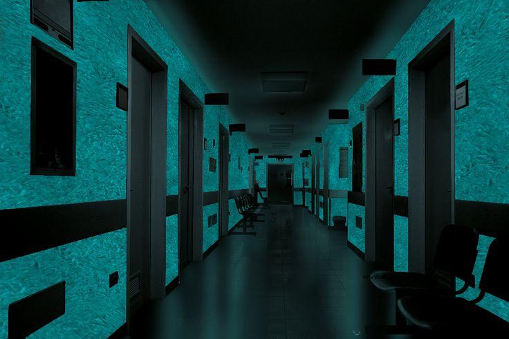 Chodba - čakáreň -  MAGIC LIGHT - fosforujúci náter