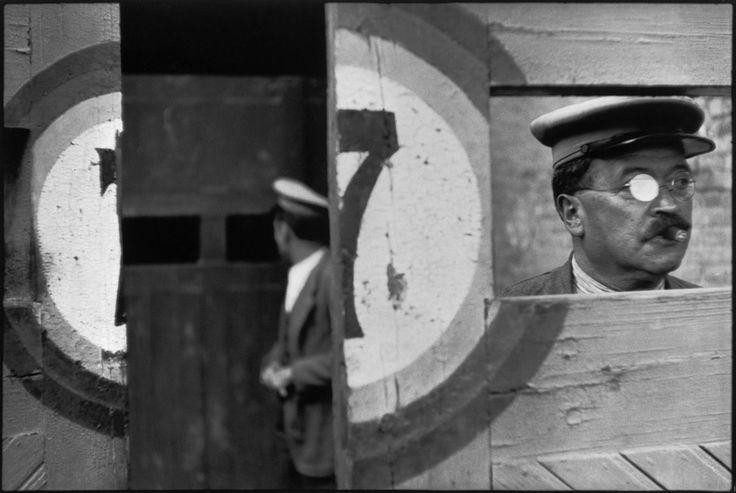 © Henri Cartier-Bresson/Magnum Photos Valencia. 1933. Inside the sliding doors of the bullfight arena.
