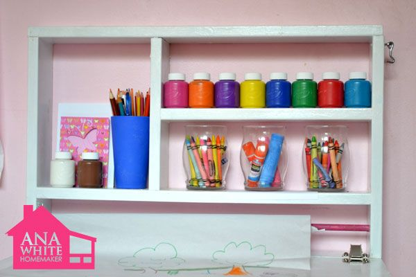 Plans to build a child 39 s desk woodworking projects plans for Diy wall to wall desk