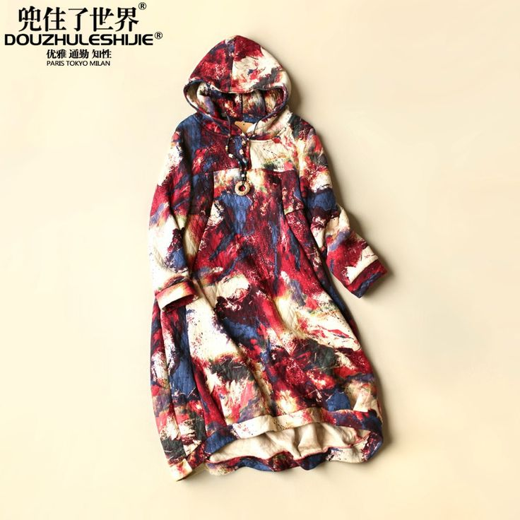 Find More Dresses Information about New arrival fashion 2015 autumn women's clothing boutique literature and art van print dress long sleeve hooded one piece dress,High Quality dress things,China clothing style Suppliers, Cheap dress matching for men from Blooming Season-Original Design on Aliexpress.com