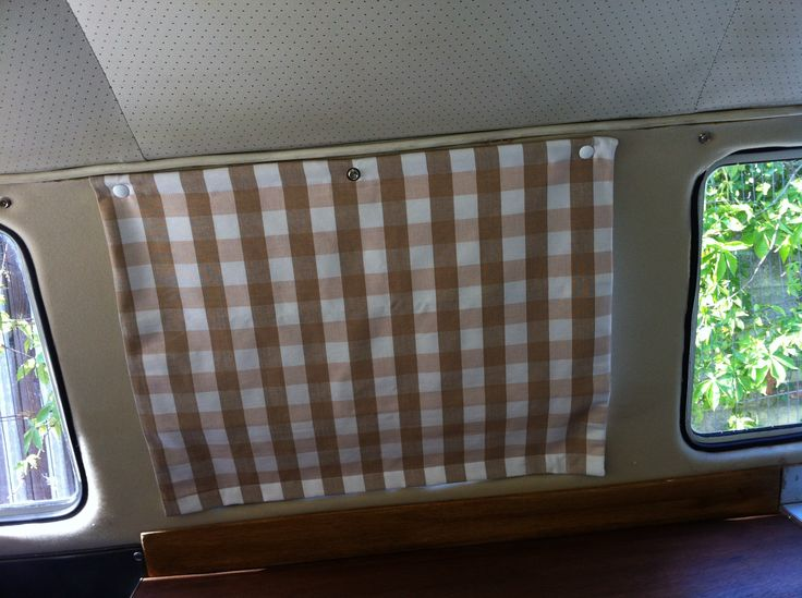 camper poppered blinds | Delilah's VW Camper Furnishings