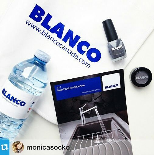 Our Blanco giveaways during #IDS15 includes a reusable bag, new product brochure, water bottle, NEW Metallic Gray eye shadow and Cinder nail polish