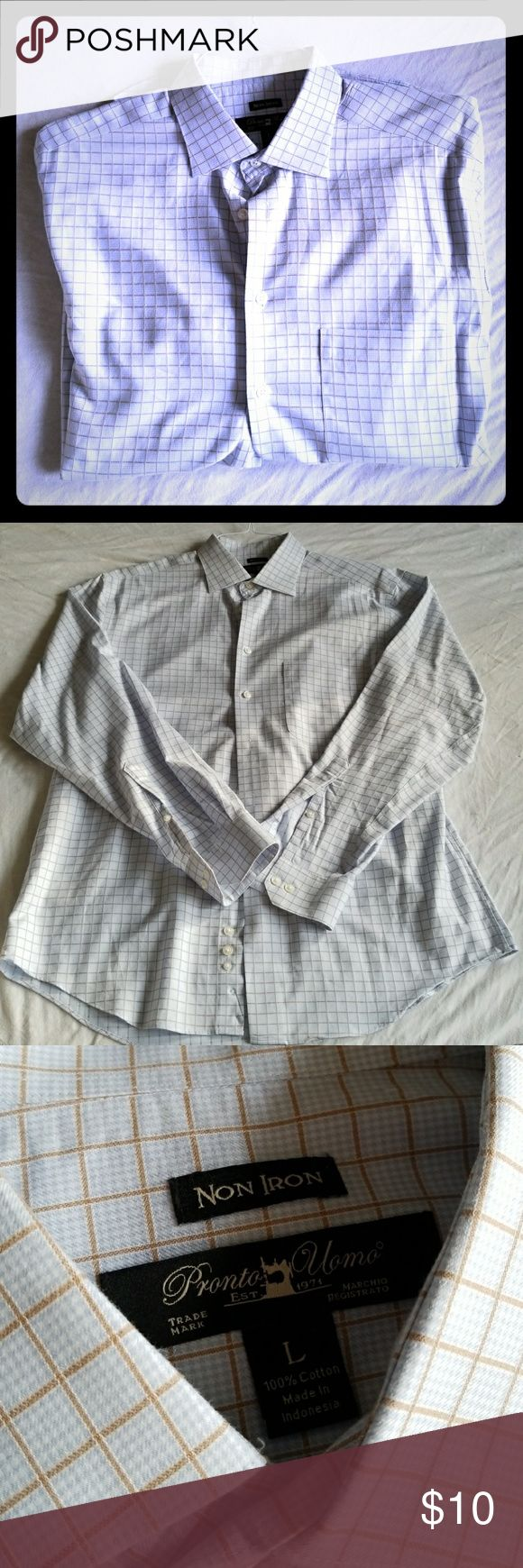 Men's long sleeve non iron shirt Long sleeve non iron. Never worn NEW without tags. Perfect! This is non iron so it doesn't wrinkle and keeps creases Pronto Uomo Shirts Dress Shirts