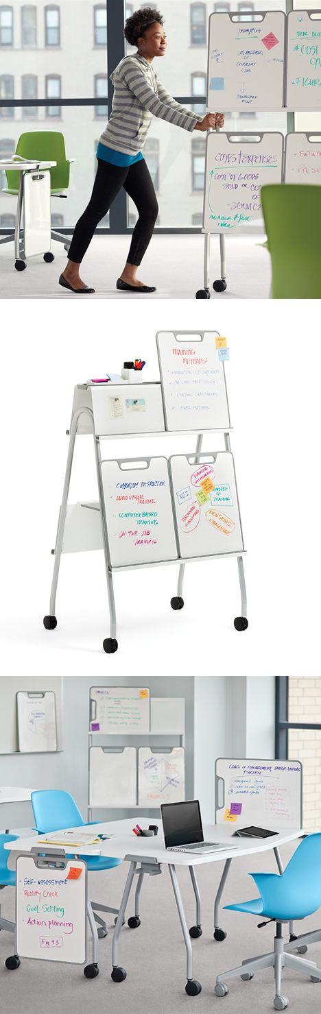 Steelcase is updating the classroom with their very cool Verb line of furniture, consisting of rollable tables, desks and chairs, a system of whiteboard panels that can be used as both slates and dividers, and an Instructor Station that even has a cupholder.