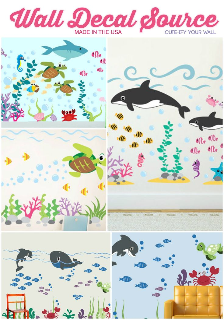 Find The Perfect Ocean Wall Decals For Your Under The Sea Themed Rooms!  Check Them Part 82