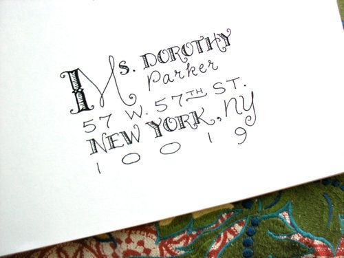 """New lettering style added to my Etsy shop for envelope addressing. I like to call this """"The Baudelaire Mélange"""" (even though thi..."""