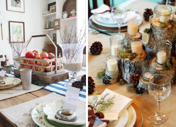Идеи для украшения обеденного стола осенью