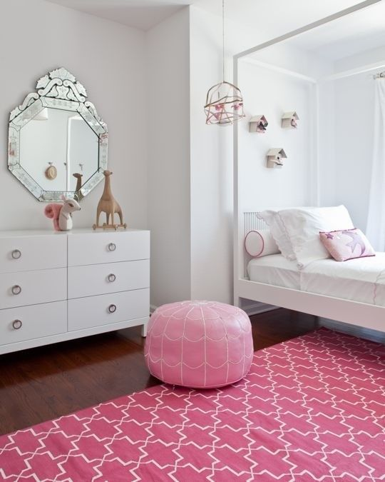 Glamorous girls bedroom - pink and gray