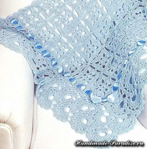 Вязание одеяла крючком 138