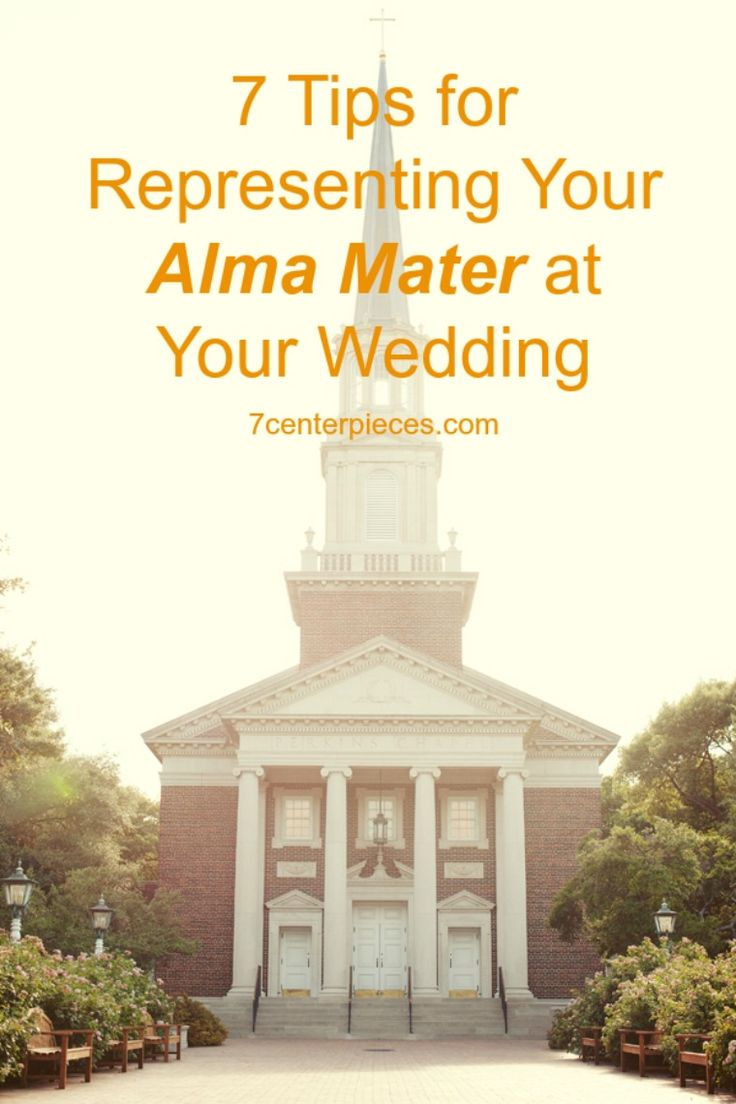 Great tips to incorporate your college or university into your wedding! (http://www.7centerpieces.com/7-tuesday-tips-representing-alma-mater-wedding) #collegewedding