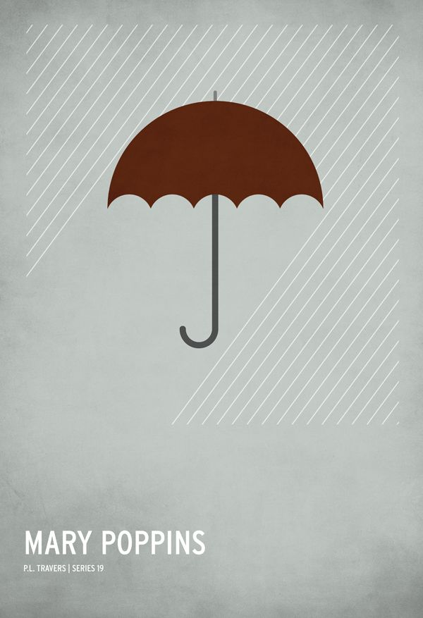 Love these minimalist fairy tale prints.  Even though, you know, Mary Poppins isn't technically a fairy tale :)