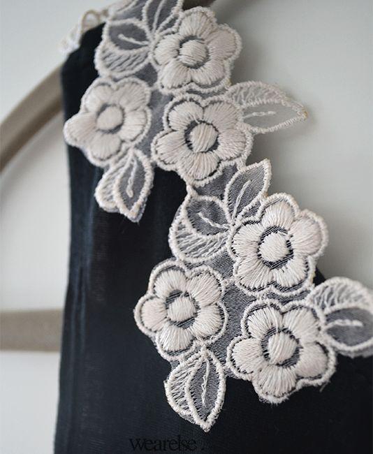 Guipiure Flores   Musculosa Pionono   Wearelse