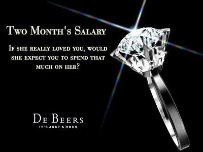 De Beers   「ダイヤモンドは永遠の輝き」