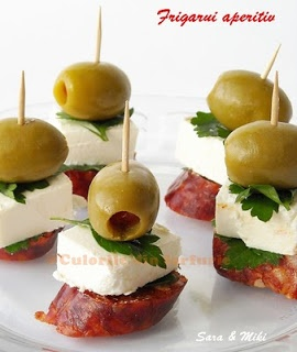 Olives, cheese and salami skewer. SHHHH, I'm makin' a classic here.
