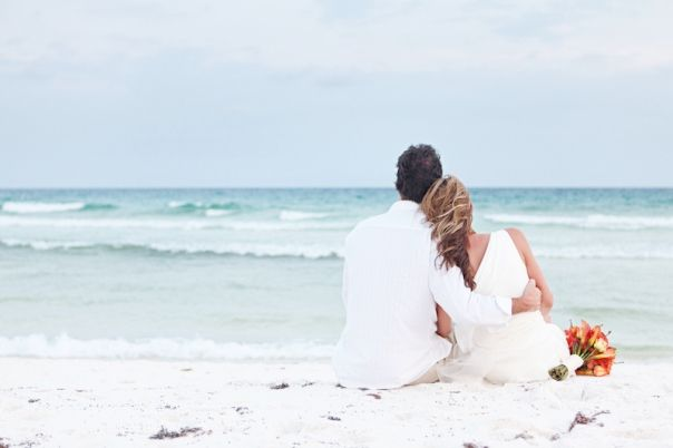 Beach Vow Renewal Ceremony: Cool Idea With All Of Us Sitting Looking At The Ocean